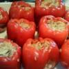 Vegeterijanske punjene paprike
