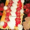 Jagoda palacinke s krem sirom i bademima