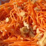 Salata od šargarepe sa orasima