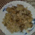 Piletina sa šampinjonima i pirinčem