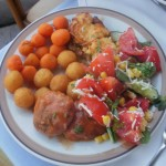 Čufte sa kuglicama od krompira i šargarepe