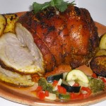 Pečeni svinjski but sa senfom i ruzmarinom