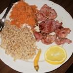 Pečena teletina sa pirinčem i šargarepom