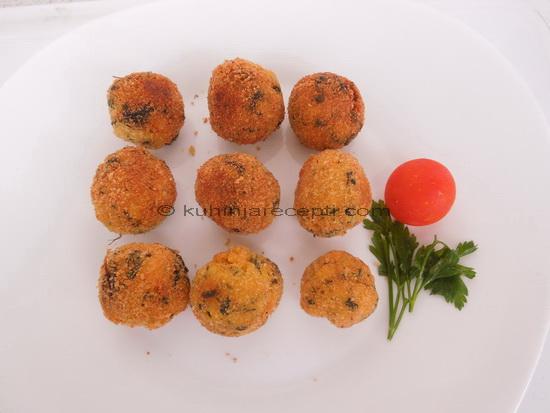 Krompir kroketi sa sirom i blitvom