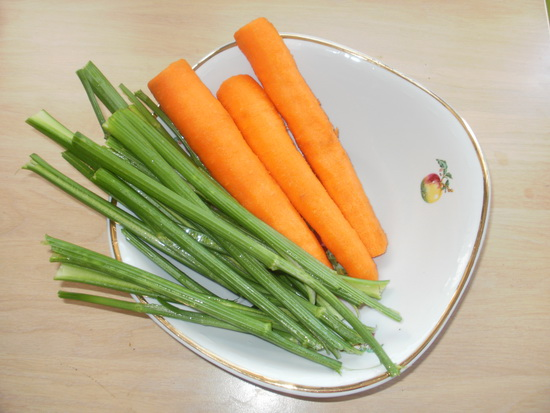 stabljika celera i šargarepa