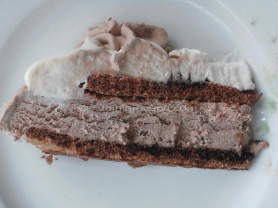 Sladoled torta s bademima