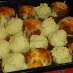 Gnijezda od mljevenog mesa i zapečeni pire krompir