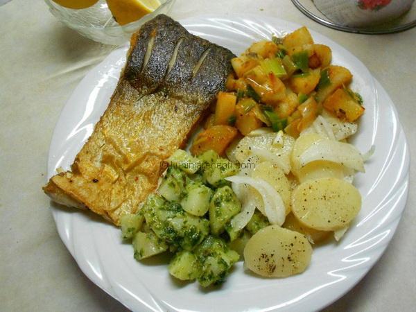 Tolstolobik i krompir salata u tri boje