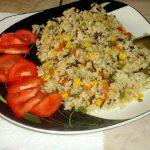Divlja riža s povrćem