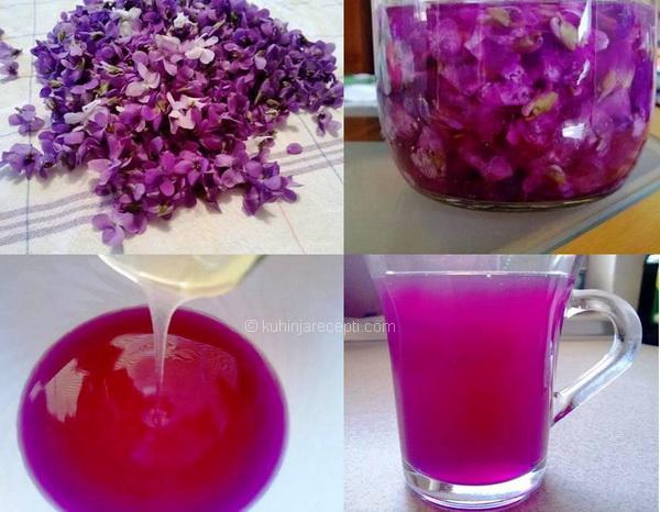Sirup od cvjetova mirisnih ljubičica