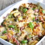 Složenac od brokolija, krompira i mesa