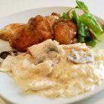 Piletina s roštilja i mlinci sa šampinjonima