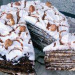 Torta od kakao palacinki sa slagom