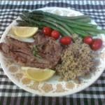 Jagnjetina sa šparglom  i integralnim pirinčem