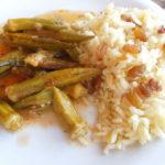 Bamije sa pirinčem