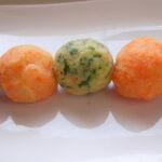 Šarene slane krompir kuglice