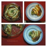 Spiralni slani tart sa povrćem, pršutom i sirom