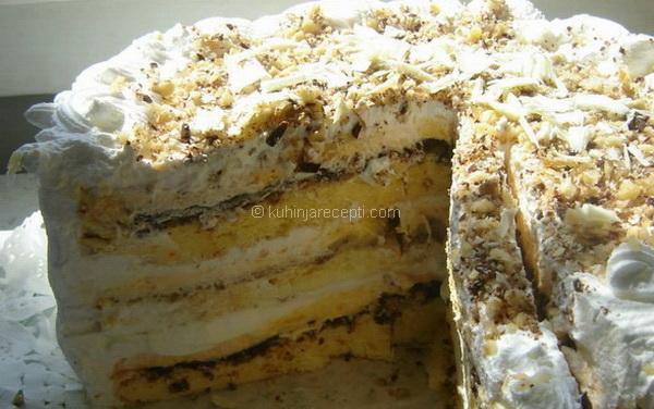 Bidermajer torta s tamnom i belom čokoladom