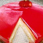 Crveniot glazura za torta