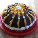 Kremasta kilimandžaro torta s breskvama