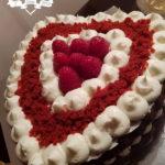 Torta Red Velvet s malinama