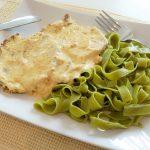 Svinjetina sa sampinjonima i tjestenina od spinata