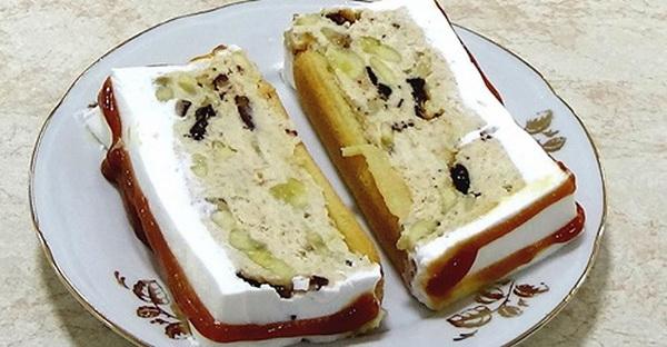 Kremasta piškota torta sa jafa keksom